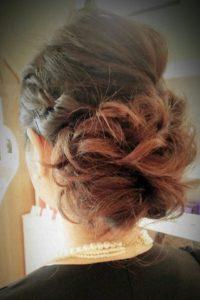 結婚式前のヘアセット